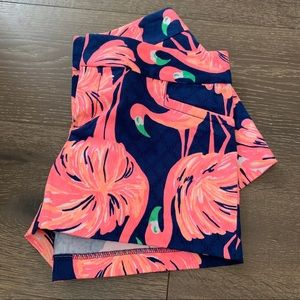 Lilly Pulitzer Blue Pink Flamingo Shorts Size 6